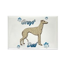 Greyt fawn brindle Rectangle Magnet (100 pack)