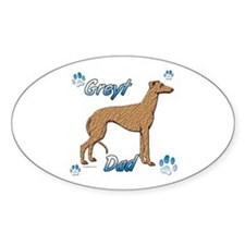 Greyt red brindle Oval Sticker (10 pk)