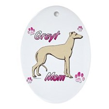 Greyt mom fawn Oval Ornament