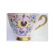 Pansy Teaparty Rectangle Magnet