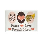Peace Love French Horn Rectangle Magnet (10 pack)