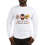 Peace Love French Horn Long Sleeve T-Shirt