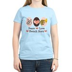 Peace Love French Horn Women's Light T-Shirt