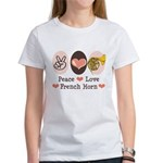 Peace Love French Horn Women's T-Shirt