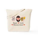 Peace Love French Horn Lessons Teacher Music Bag