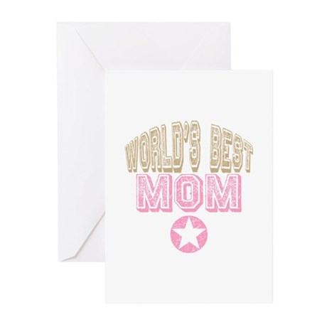 World's Best Mom Greeting Cards (Pk of 20)