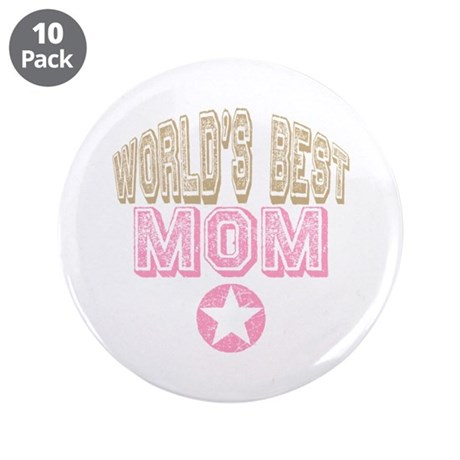World's Best Mom 3.5&quot; Button (10 pack)