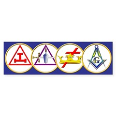 Masonic York Rite Circle Bumper Sticker (50 pk)