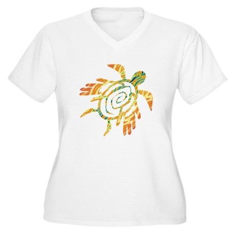 Winged Turtle Women's Plus Size V-Neck T-Shirt