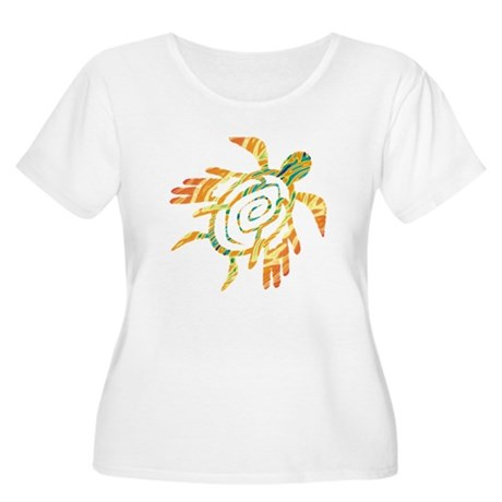 Winged Turtle Women's Plus Size Scoop Neck T-Shirt