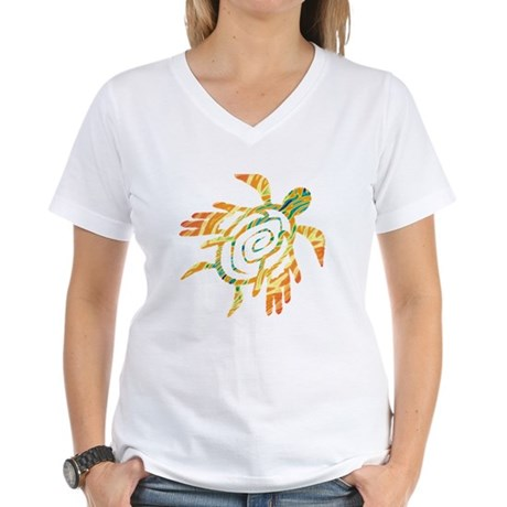 Winged Turtle Women's V-Neck T-Shirt