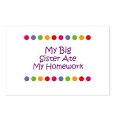 My Big Sister Ate My Homework Postcards (Package o