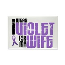 I Wear Violet For My Wife 6 Rectangle Magnet (10 p