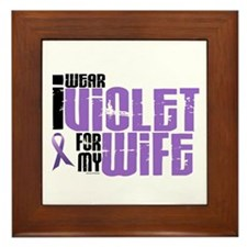 I Wear Violet For My Wife 6 Framed Tile
