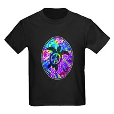 Peace Turtles Kids Dark T-Shirt