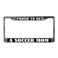 Proud Soccer Mom License Plate Frame