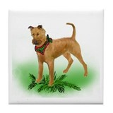 irish Terrier christmas Tile Coaster