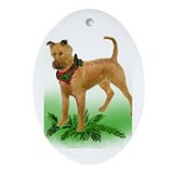 irish Terrier christmas Oval Ornament