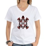 Abstract Turtle Women's V-Neck T-Shirt