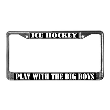 Funny Ice Hockey License Plate Frame