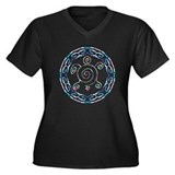 Spiral Turtles Women's Plus Size V-Neck Dark T-Shi