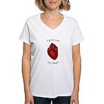 Human Heart Women's V-Neck T-Shirt