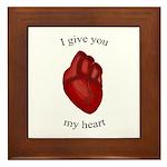 Human Heart Framed Tile