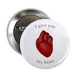 """Human Heart 2.25"""" Button"""