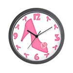 Pink Shoe Wall Clock