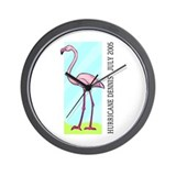 Hurricane Dennis - Flamingo Wall Clock