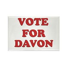 Vote for DAVON Rectangle Magnet