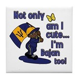 Cute and Bajan! Tile Coaster