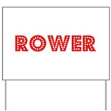 Retro Rower (Red) Yard Sign
