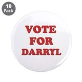 "Vote for DARRYL 3.5"" Button (10 pack)"