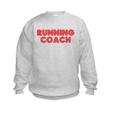 Retro Running Coach (Red) Sweatshirt
