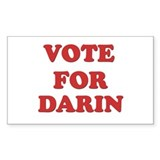 Vote for DARIN Rectangle Decal