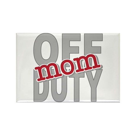 Off Duty Mom Profession Rectangle Magnet (100 pack
