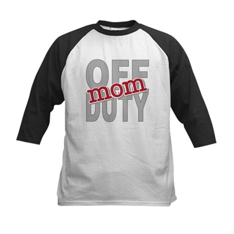 Off Duty Mom Profession Kids Baseball Jersey