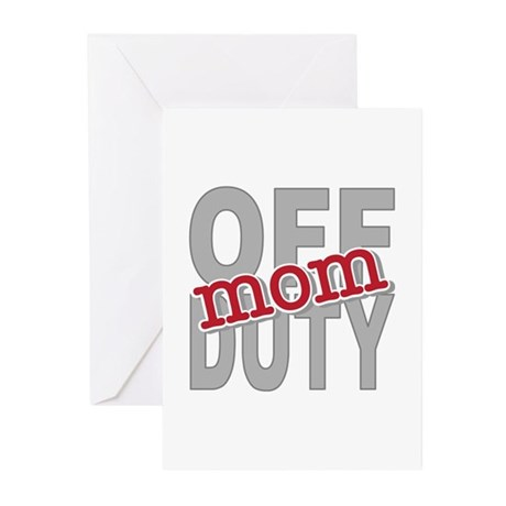 Off Duty Mom Profession Greeting Cards (Pk of 20)