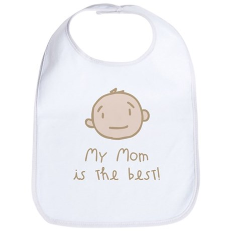 My Mom is the Best Cartoon Bib