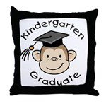 Monkey Kindergarten Graduate Throw Pillow