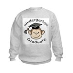 Monkey Kindergarten Graduate Kids Sweatshirt