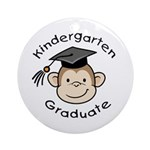 Monkey Kindergarten Graduate Ornament (Round)