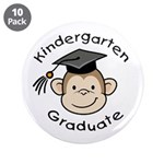 "Monkey Kindergarten Graduate 3.5"" Button (10"