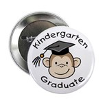 "Monkey Kindergarten Graduate 2.25"" Button (10"