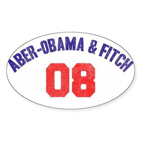 Aber-Obama & Fitch Oval Sticker