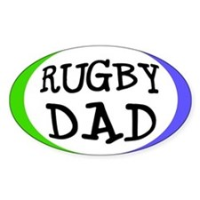 Rugby Dad Bumper Sticker (Small Oval)