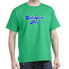 Retro Solitaire Pro (Blue) T-Shirt