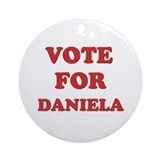 Vote for DANIELA Ornament (Round)