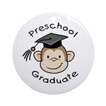 Monkey Preschool Graduate Ornament (Round)
